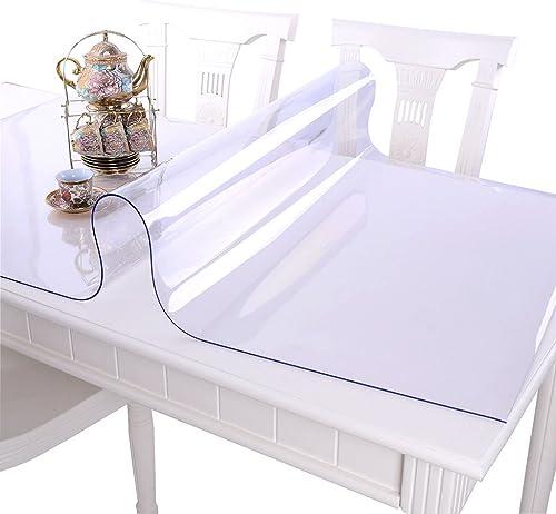 Nappes Nappe imperméable à l'eau et résistant à l'huile mou PVC transparent en plastique tapis de table pad plaque de cristal (Couleur   A, taille   90  150CM)