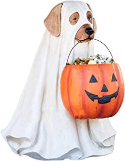 LYEAA Spöke hund godisskålhållare med livstorlek, bus eller godis trollkarl spöke hund hinkar, halloween pumpa mellanmål s...
