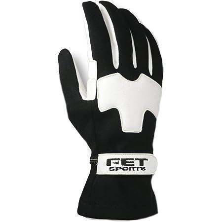 FETスポーツ 3Dライトウェイトグラブ グローブ ブラック/ホワイト L FT3DLW07