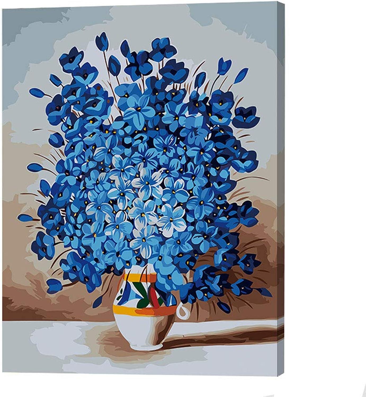 Unbekannt Blaume Landschaft DIY Digitale malerei, Pigment Erwachsenen Anzug Erwachsene Erwachsene Erwachsene Kinder anfänger, Hause wanddekoration(Mit innerem Rahmen),J,50x60cm B07LF3BQ6C   Spielzeug mit kindlichen Herzen herstellen  b8e328