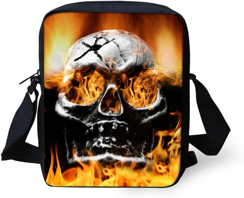 Skulls of small diagonal fashion trends men's highend canvas shoulder bag men