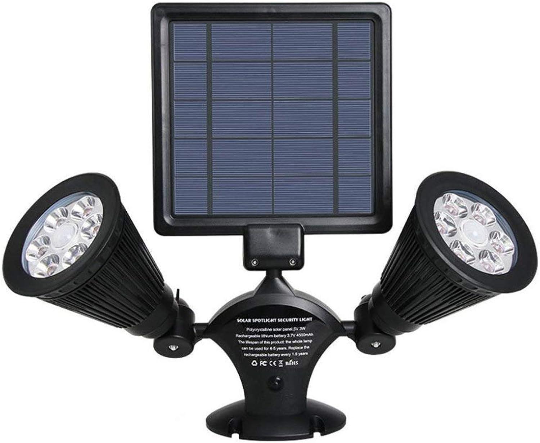 YANKAN Solar Spotlight, Outdoor-Garten Wandleuchte, Solar led Menschlichen Krpers Lnduktion Doppel Scheinwerfer Outdoor