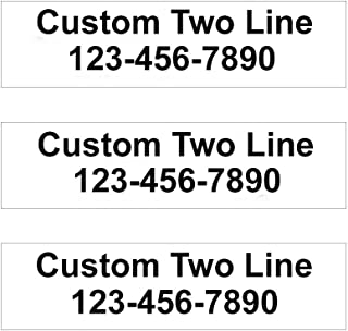 """3 Pack Customized 2-Line Rider Signs - 6"""" Tall x 24"""" Wide Double-Sided Yard Signs- Choose Your Sign & Font Colors (White Background Black Text)"""