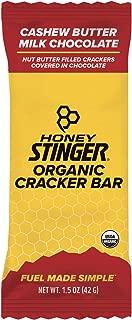 Honey Stinger Organic Cracker N' Nut Butter Snack Bars, Milk Chocolate Cashew Butter, 1.5 Ounce (12 Count)