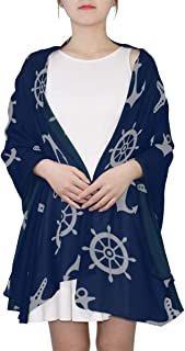 Fun Scarfs For Women Blue Cute Navy Metal Anchor Triangle Scarf Lightweight Summer Scarf For Women Lightweight Print Scarves Scarf Women Summer Shawls And Wraps Warm