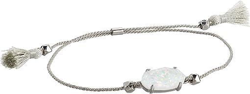 Rhodium/White Opal