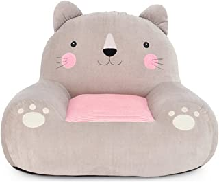 Hollwald Canapé Enfant lit Meuble Fauteuil Coussin Coton Peluche Doux Confortable Animal Aimable (Chat)