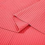 Qianqingkun Einfarbiger Stoff aus Reiner Baumwolle,