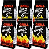 Deuba 18 Kg Grillbriketts | 6 x 3kg | Holzkohle Grillkohle Holzkohlebriketts Holzkohlegrill Grill