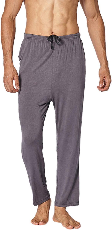 SOUGAO Men's Pajama Pants Lounge Pants with Pockets Soft Modal Sleep Pj Bottoms