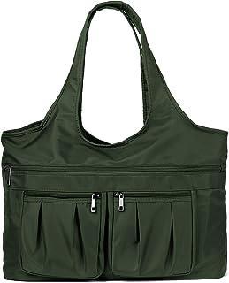 Multi Pocket Nylon Shoulder Bag For Women Waterproof Tote Travel Purses and Handbags