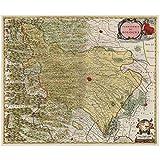 SYBS abstrakte Vintage World Maps Poster Territorium von
