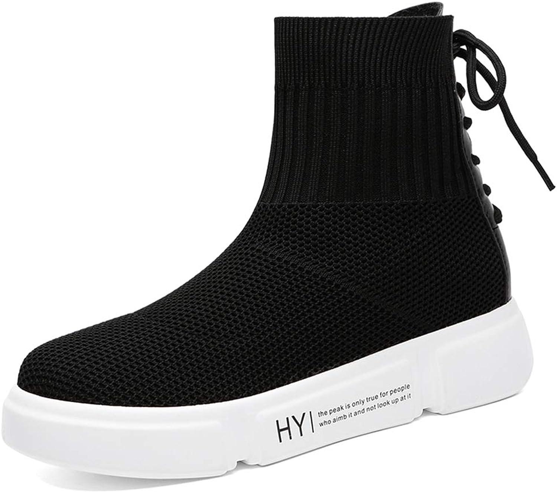 Btrada Women's Fashion Sneakers Boots Soft Slip On Walking shoes Sport Jogging Running Wedges Platforms