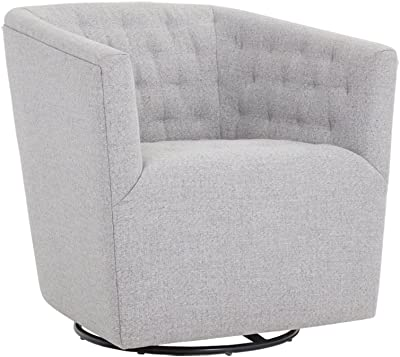 Amazon.com: Hebel Madge Barrel Back Swivel Accent Chair ...