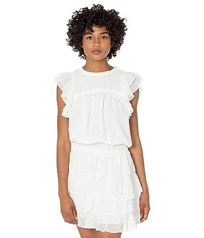 1.STATE Shirred Yoke Tiered Skirt Dress