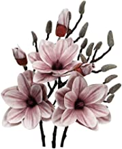 YATAI Pack of 3 Yulan Magnolia Artificial Flowers Spray Artificial Plants Leaf Silk Flowers Wholesale Fake Flowers for Hom...