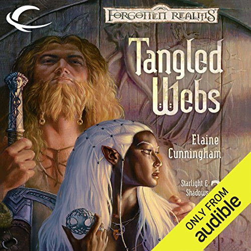 Tangled Webs     Forgotten Realms: Starlight & Shadows, Book 2              By:                                                                                                                                 Elaine Cunningham                               Narrated by:                                                                                                                                 Dara Rosenberg                      Length: 16 hrs and 6 mins     83 ratings     Overall 4.3