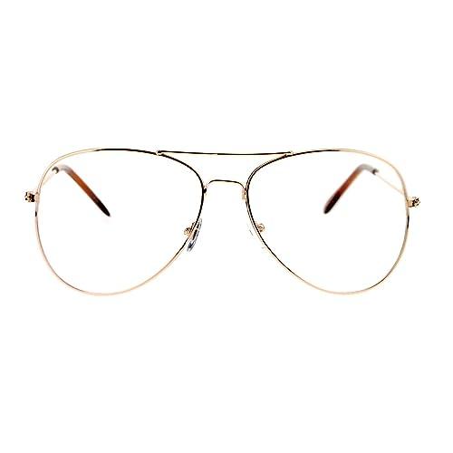 347a3b7105a SA106 Classic Wire Rim Tear Drop Shape Pilot Clear Lens Eye Glasses