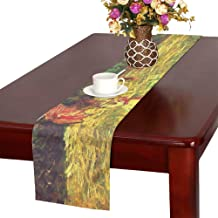 AIKENING Monet Art Painting Woman in The Field Table Runner, Kitchen Dining Table Runner 16 X 72 Inch for Dinner Parties, Events, Decor