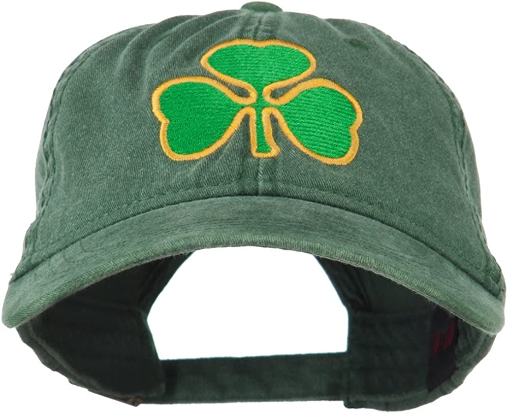 St. Patrick's 5 popular Day Clover free shipping Embroidered Cap Washed