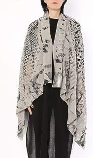 ミハイル ギニス アオヤマ MICHAIL GKINIS AOYAMA 着る ART ストール [登録意匠] 日本製 ハイテク ニット MADE IN TOKYO ギリシャ 大判 コットン Cotton SILVER GRAY グレー シルバー