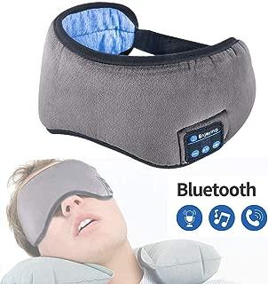 Bluetooth Eye Mask Sleep Headphones,HaoDian Music Travel Sleep Mask Wireless Bluetooth Headphones Built -in Speakers Microphone Handsfree Adjustable and Washable