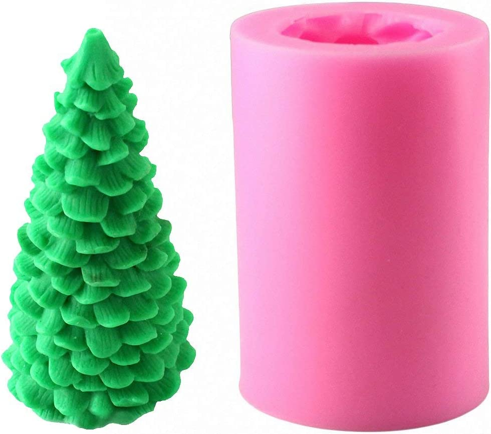 Gift2U Max 67% OFF Courier shipping free 3D Christmas Tree Candle Fondant for Mould Clay Mold