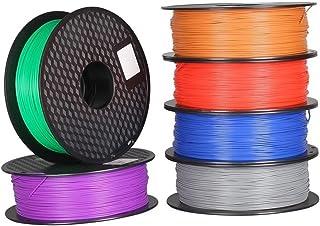 Printer Accessories 6pcs PLA 1.75mm Filament 1KG Printing Materials Colorful For 3D Printer Extruder Pen Rainbow Plastic A...