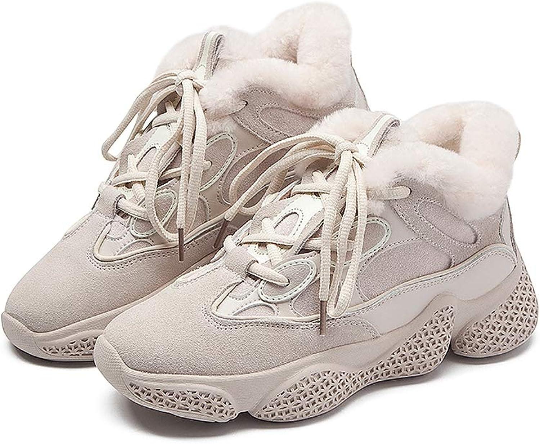 Frauen Clunky Turnschuhe Dad Schuhe Plus Samt Winter dicken unteren Schuhe Weibliche Ins