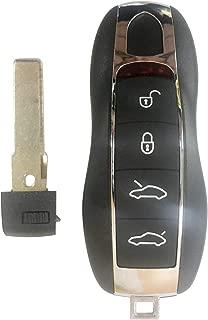 Keyless Entry Remote Car Key Fob for 2010-2017 Porsche 911 Cayenne 2010-2016 Panamera Boster 4 Button KR55WK50138,by AUTOKEYMAX (SINGLE)