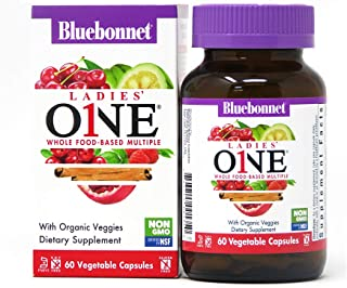 BlueBonnet Nutrition Ladies One Vegetable Capsule, Whole Food Multiple, K2, Organic Vegetable, Energy, Vitality, Non-GMO, ...