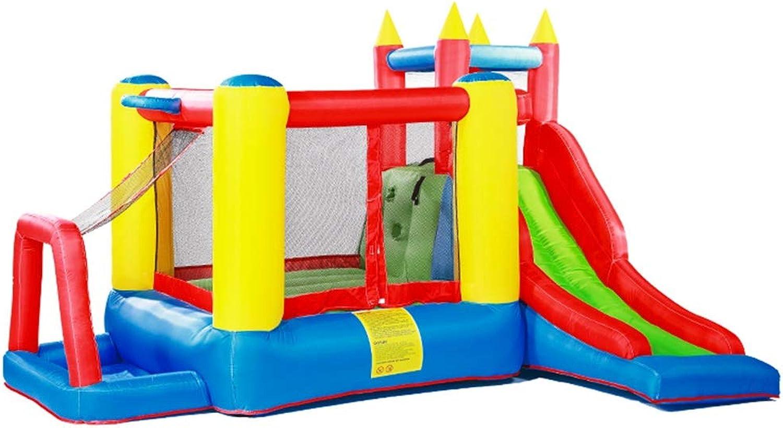 Hüpfburg Aufblasbares Schloss Für Kinder Spielplatz Im Freien Kinderrutsche Kindertrampolin Hüpfen Haus Spielt Haus Kinder Lieblingsgeschenk (Farbe   Blau, Größe   280x340x210cm)