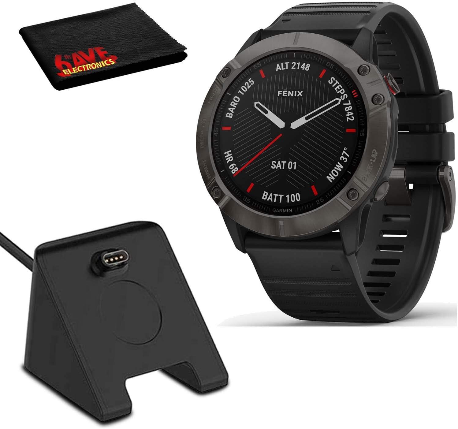 Garmin 倉 Fenix 6X セール開催中最短即日発送 Multisport GPS 51mm Smartwatch Sapphire Carbo