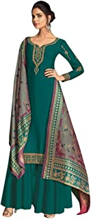 Ready To Wear Women Traditional Heavy Designer Georgette Salwar Kameez Banarasi Silk Zari Dupatta Full Stitch Suit Panjabi Bollywood Indian Wedding Ethnic Party Wear 8655