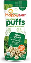 Happy Baby Organic Superfood Puffs Kale & Spinach, 2.1 Ounce, Pack of 6 (Packaging May Vary)