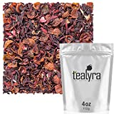 Tealyra - Hibiscus and Rosehips - Herbla Loose Leaf Tea - Health Tonic - Natural Weight Loss - Supports Healthy Blood Pressure - Caffeine-Free - Vitamins Rich - All Natural - 112g (4-ounce)