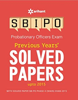 Previous Year's Solved Papers SBI PO Probationary Officers Exam - Paperback