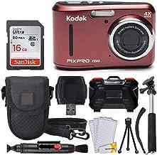 Kodak PIXPRO FZ43 16.15MP Digital Camera with 4X Optical Zoom + SanDisk 16GB Ultra SDHC 80MB/s Memory Card (Class 10) + Po...
