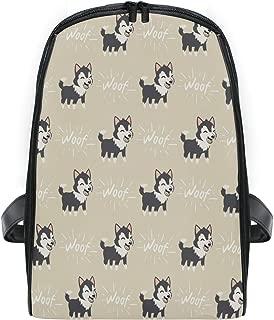 ZZXXB Husky Woof Backpack Kids Toddler Child Preschool Kindergarten Waterproof Book Bags Travel Daypack for Boys and Girls