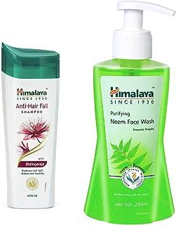 Himalaya Herbals Anti Hair Fall Shampoo, 400ml And Himalaya Herbals Purifying Neem Face Wash, 200ml