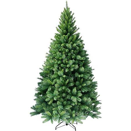 RS Trade HXT 1101 Arbre de Noël Artificiel 120 cm (Ø env. 76 cm) avec 446 Branches, système Parapluie Pliable Montage Rapide, Faux Sapin presqu'ininflammable, trépied du Sapin de Noël métal Compris