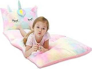Yoweenton Unicorn Kids Floor Pillows Bed Seat Cover Queen...
