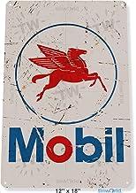 Froy Mobil Logo Rust Auto Grease Gas Oil Station Pump B072 Placa Hoja de Metal Vintage Arte Personalizado Creatividad Decoración Artesanía para Cafe Bar Garaje Inicio