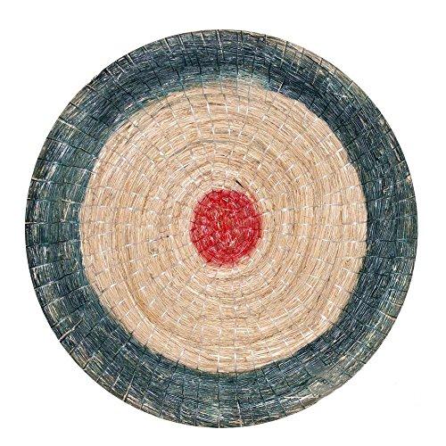 Runde Strohscheibe Deluxe - Ø 60 cm - Zielscheibe - Farbe: blau-rot
