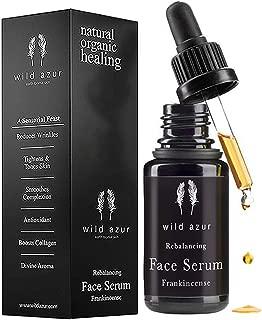 Frankincense Face Serum with Boswellia Sacra, Rosehip & Vitamin C, Organic, Anti Aging Serum for Sensitive Skin. Reduces Fine Lines & Wrinkles. Heals, Tones & Hydrates! 20ml