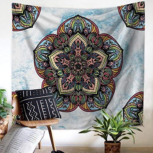 WERT Tapiz de Mandala de Pavo Real montado en la Pared Hippie Bohemio Indio decoración del hogar Tapiz de Tela de Fondo A6 73x95cm