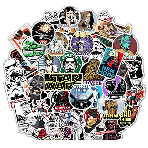 Star Wars Pegatinas Anime Portátil Guitarras Monopatín Equipaje Papelería Casco Impermeable Pegatinas Niños Juguetes 50pcs