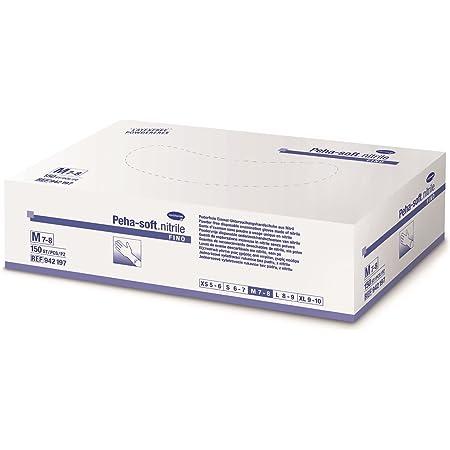 200 unidades, tama/ño L HARTMANN 9422083 Peha-soft Nitrile White Polvos blandos