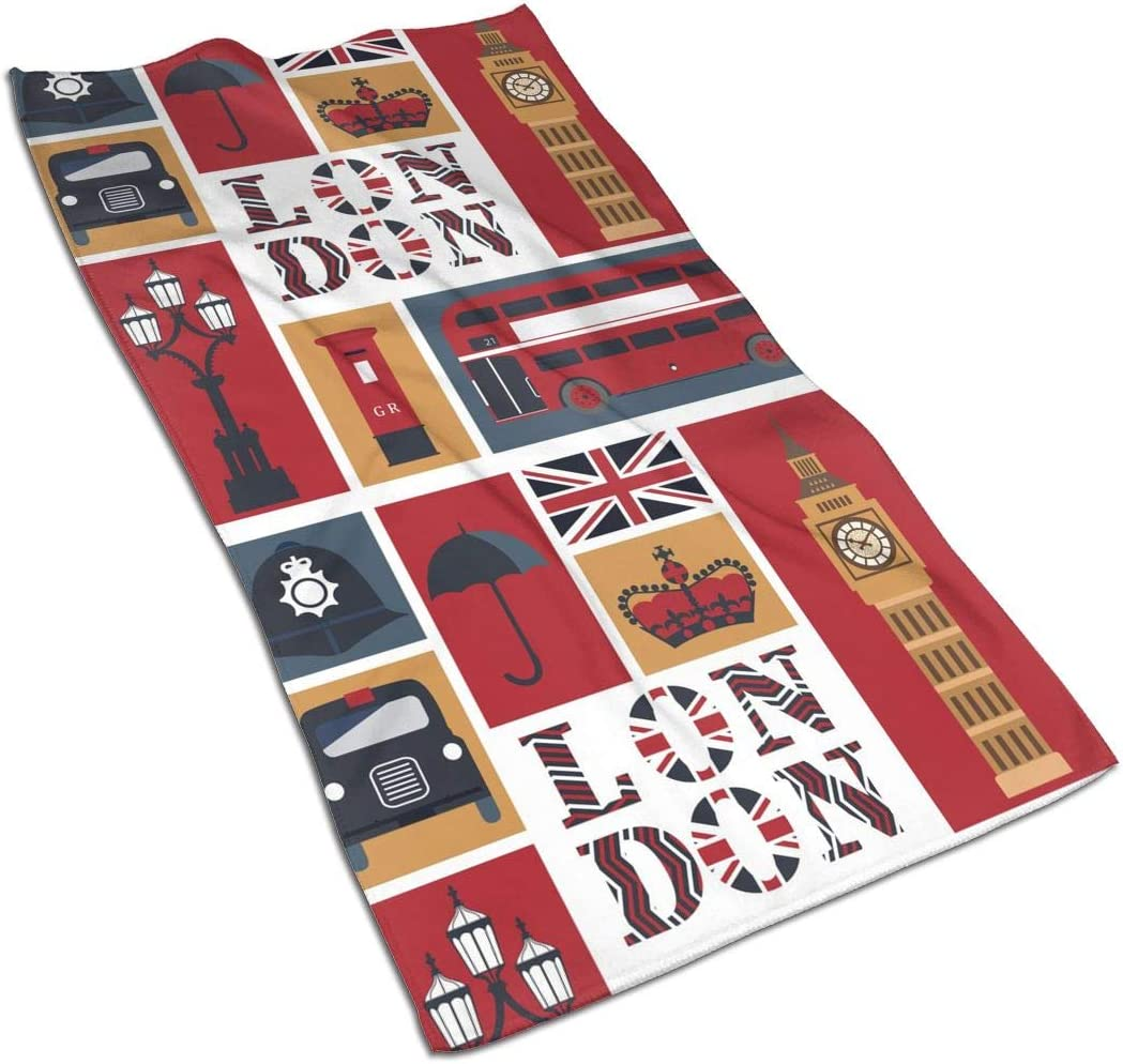FeHuew London Surprise price City Big Ben Union Flag Towels Fingertip Jack Hand New item