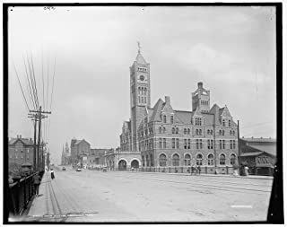 Vintography 8 x 10 Ready to Frame Pro Photo of Union Station Nashville Tenn 1900 Detriot Publishing 74a